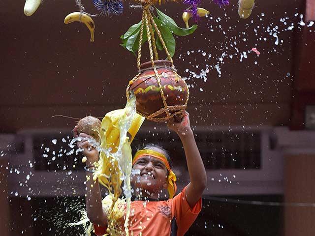 Celebrations Across India On Krishna Janmashtami: Pics