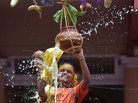 Celebrations Across India On Krishna Janmashtami: Pics