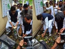 Photo : Devendra Fadnavis, Amitabh Bachchan Join The Clean-Up Drive For #MahaCleanathon