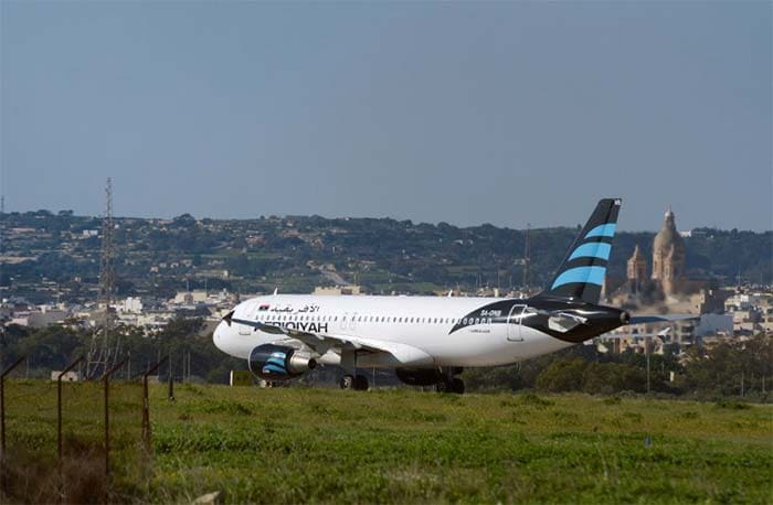 First Pics: Hijacked Libyan Plane Lands In Malta, 118 On Board