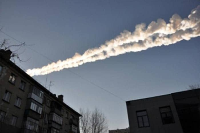 Meteor strike above central Russia