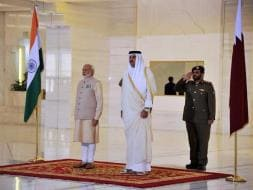 Photo : Pics: PM Modi's ceremonial welcome at Emiri Diwan in Doha