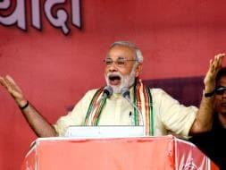 Photo : 5 Pics: Prime Minister Modi Slams Nitish-Lalu Combine in Bhagalpur