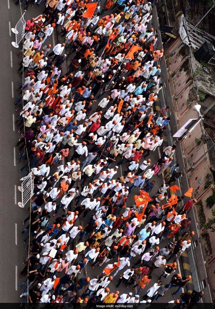 Started since August 9, 2016, with processions in 57 different cities, the Maratha Kranti Morcha made its maiden entry in the state capital and will end the year-long campaign through processions by submitting a memo to Chief Minister Devendra Fadnavis. (Mid-Day)