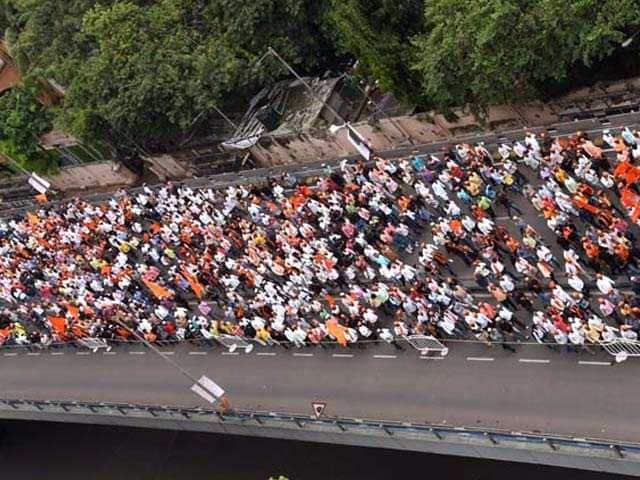Pics: 'Maratha Kranti Morcha' Protest Rally In Mumbai