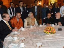 Photo : At President Pranab's Dinner, an Impromptu SAARC Summit