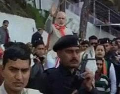 Photo : Narendra Modi visits Vaishno Devi shrine ahead of rally in Jammu and Kashmir