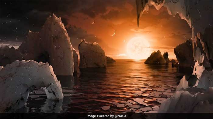 These planets are scientifically known as exoplanets because they are located outside of our solar system. The exoplanet system is called TRAPPIST-1, named for The Transiting Planets and Planetesimals Small Telescope (TRAPPIST) in Chile. (Image source: NASA)