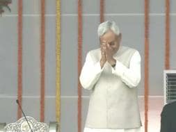 Photo : The Bihar Swearing In - an Opposition Show of Unity