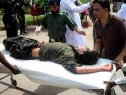 Photo : Multiple blasts in Pakistan as historic polls underway