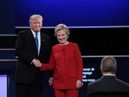 Photo : US Presidential Debate: Hillary Clinton and Donald Trump Come Face To Face