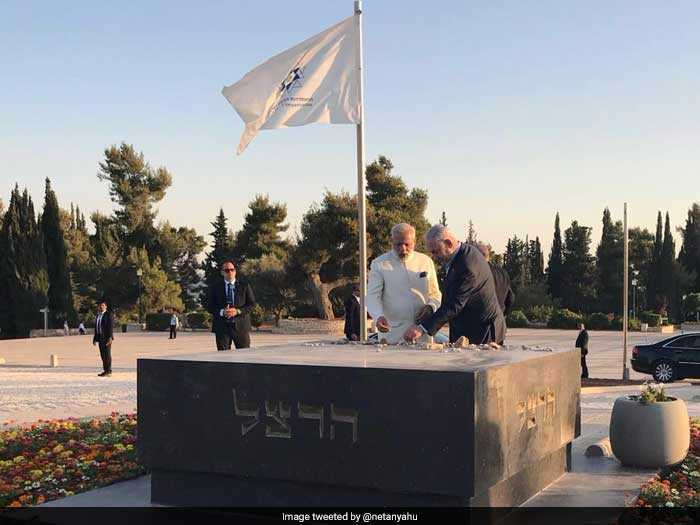 PM Modi visited the grave of Theodor Herzl, widely considered as a father of the State of Israel.