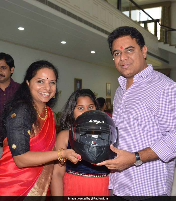 Meanwhile, helmet gifting trend caught up on Twitter after Nizamabad lawmaker K Kavitha urged women across the country to gift helmets to their brothers to promote road safety through the initiative.