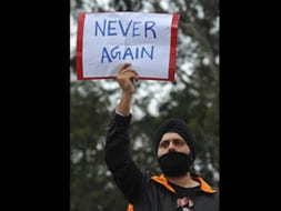 Photo : Never again: India demands change