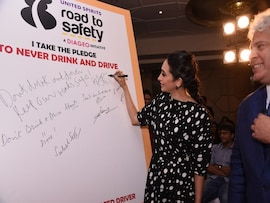Launch Of NDTV-United Spirits Road To Safety Campaign Season 3 With Karisma Kapoor