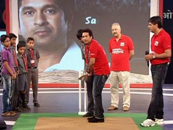 Photo : Sachin bats for schools