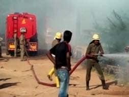 Photo : Major fire at Sivakasi firecracker factory