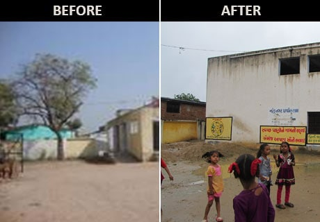 NDTV Support My School Campaign: Nehrunagar Primary School, Makarba, transformed
