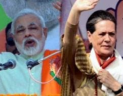 Photo : Assembly elections 2013: Campaign trail heats up as Sonia Gandhi, Narendra Modi exchange jibes