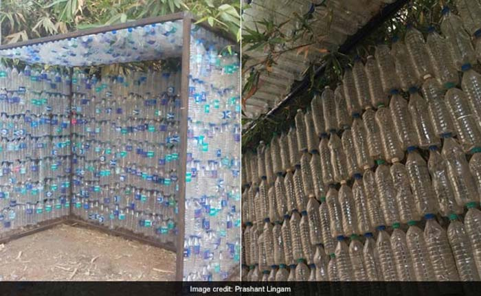 Passion For Plastics To encourage the reuse of waste plastic bottles, Prashant and his wife Aruna constructed a house of bottles with 5000 plastic bottles and a team of 20 people in a month. A year later, the couple made a water tank out of plastic bottles bought from scrap dealers at ? 1.40 per bottle. As a pilot project, the couple recently built an entire bus shelter from 1000 plastic bottles. The couple will soon take the idea of building plastic bottled bus shelters across the city to the Greater Hyderabad Municipal Corporation.
