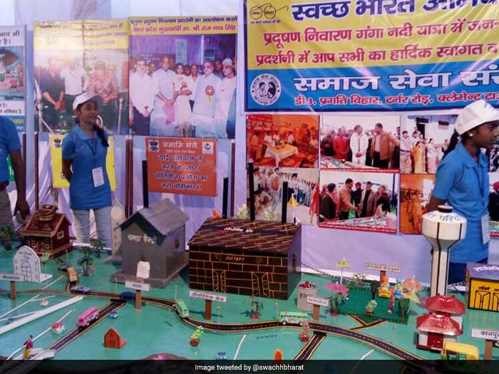 The programme started with an exhibition where various waste management techniques adopted by the state government were showcased.