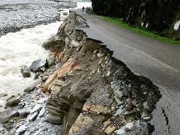 Photo : Heavily damaged roads in flood-hit Uttarakhand