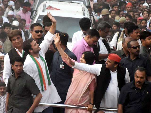 Political Heavyweights, Sea Of Supporters Flow Through Varanasi