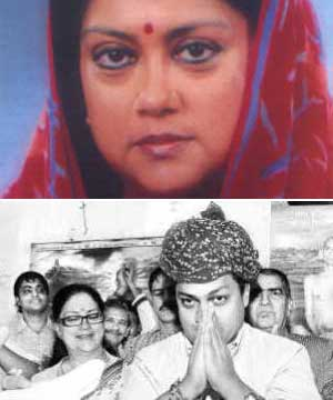 Vasundhara Raje married Hemant Singh of the ex-royal Dholpur family on 17 November 1972. A year later she gave birth to a boy, whom they named Dushyant ... - v11