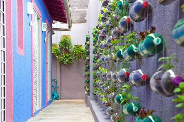 Brazil: Use Plastic to Decorate Your House: Did you know a plastic bottle can take up to 1000 years to decompose? A design studio Rosenbaum in Brazil helps and motivates people to reuse their plastic waste in beautifying people's houses. Brazil is also educating people on how to effectively reuse plastic.