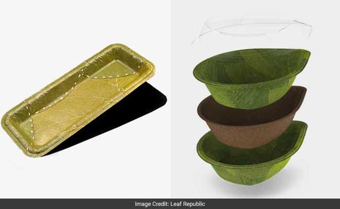 Germany: Biodegradable 'Leaf Plates' Curbs Plastic Pollution: Inspired by India's traditional custom of eating on leaves, Leaf Republic, a company in Germany is into stitching creeper leaves that come in from India. These cost effective plates serve as an alternative to plastic plates cutting down on plastic pollution. There are eco-conscious companies in India too who are trying to make such eco-friendly and biodegradable plates but the trend is yet to catch on.