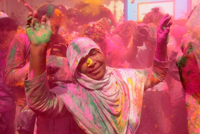 It is believed that Holi festivities begin from the Braj area (Mathura and its adjoining parts) and thereafter it takes place in rest of India.
