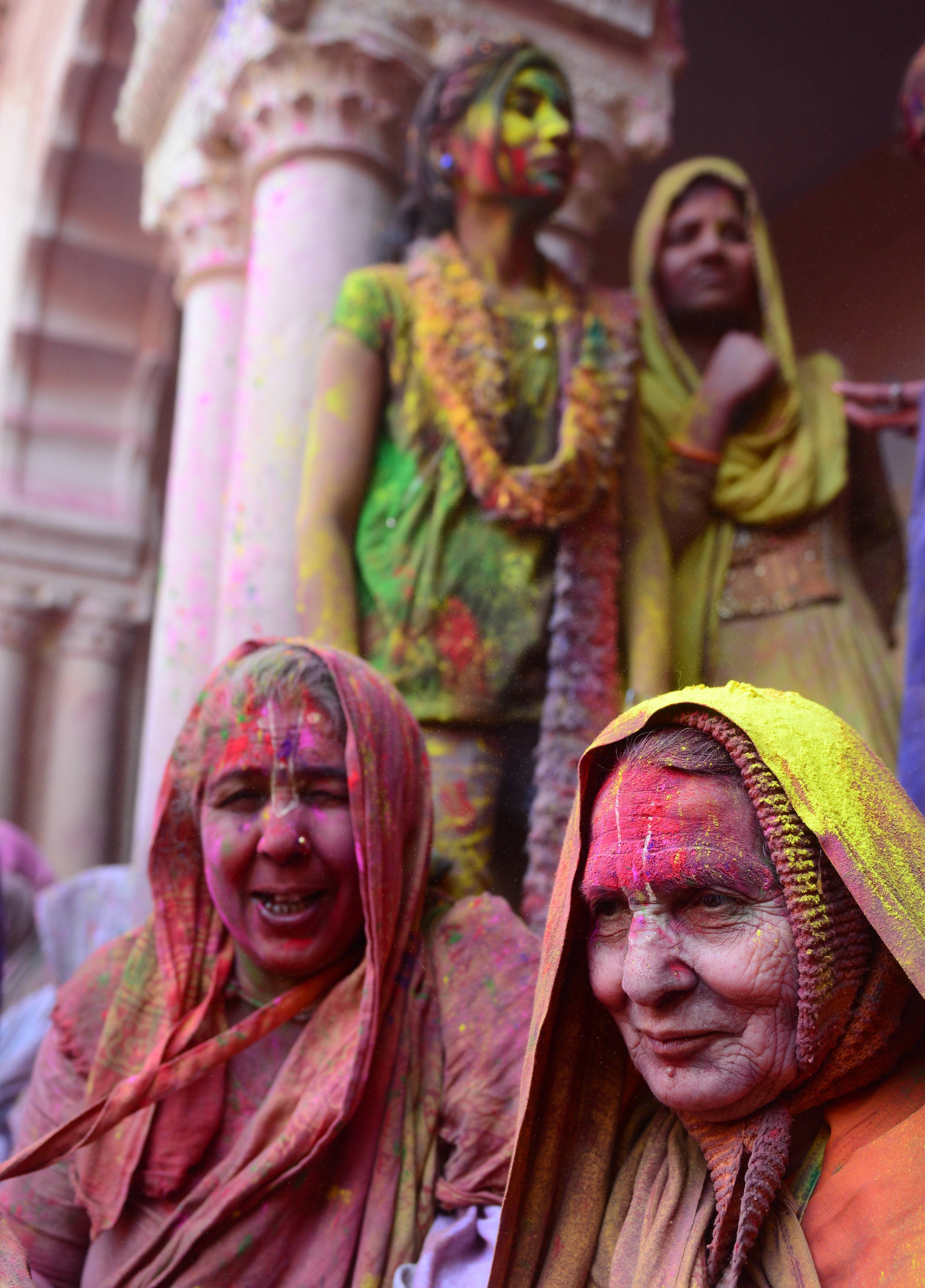 A number of widows travel from nearby districts as well to be part of Holi celebrations.