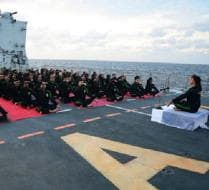 Photo : International Yoga Day: Navy Plans Special Yoga Sessions on Board Warships
