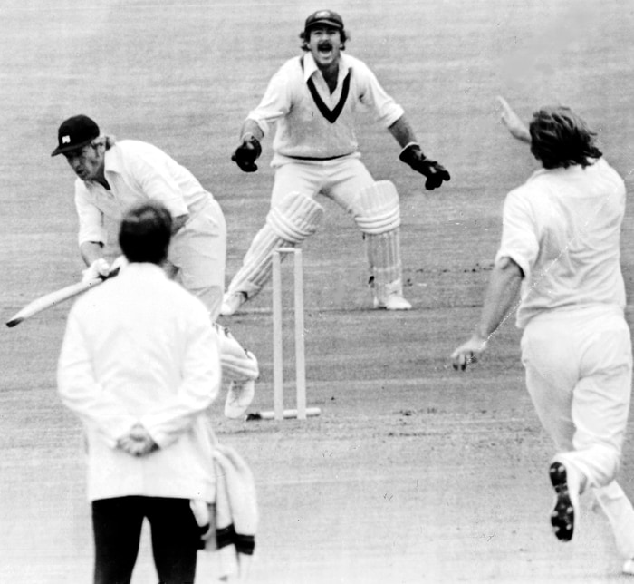 In the semi final, Gary Gilmour used the conditions well to dismiss six English batsmen and reduced the hosts to a small total of 93. While chasing, the Australians faced a scare when they were reduced to 39/6 with some exceptional bowling from the England seamers. But as the game went on, the conditions became more conducive for batting which helped Doug Walters and Gary Gilmour to steer the Australian ship home. (AP Photo)