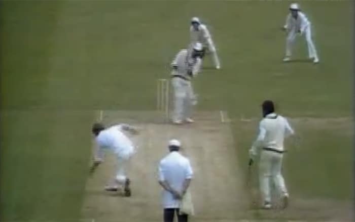 The West Indies after winning the toss started poorly as they lost three wickets for 55 runs. Skipper Clive Lloyd was soon dismissed by quite a brilliant caught-and-bowled by England paceman Chris Old who bent down in his follow through to grab the catch on the second attempt.