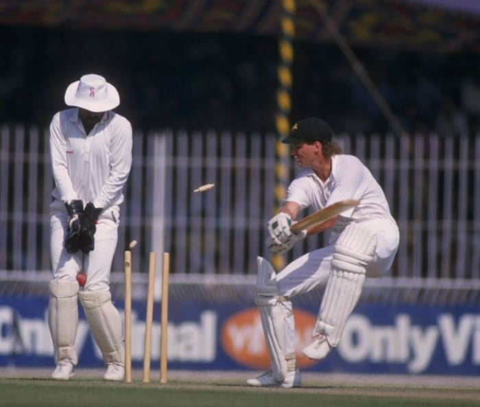 It was not the only thriller on low, slow sub-continental pitches where spinners also played crucial roles, with Pakistani leg-spin wizard Abdul Qadir often grabbing the headlines. (Photo: Getty Images)