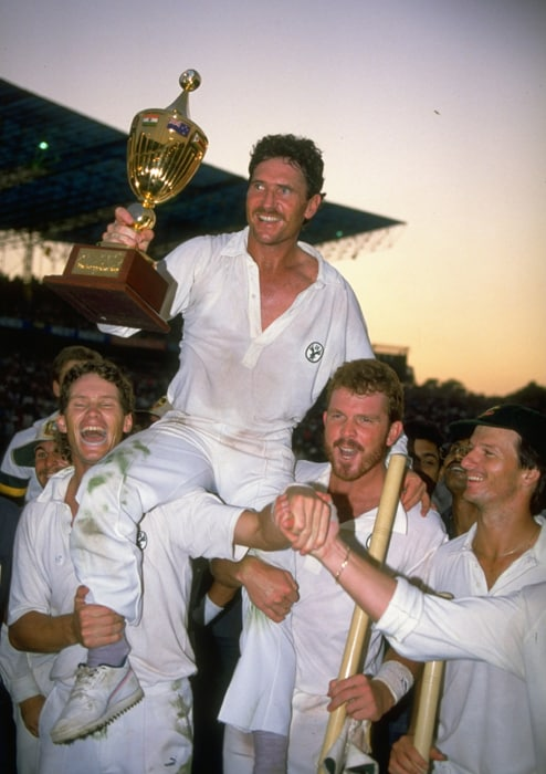 When the 1987 World Cup arrived in the sub-continent, Australia were definitely not the favourites to win it. When India and Pakistan were pooled into separate halves in the semi finals, expectations of a host-nation final began to rise. <br><br> Both England and Australia made it to the final with just one defeat in the campaign and were making their second appearance in the Final, both having lost to the dominant West Indies in the 1970s. <br><br> The unthinkable happened when Allan Border's young side posted a stunning seven-run victory over Mike Gatting's Englishmen in the final in front of 70,000 spectators at the Eden Gardens in Calcutta.