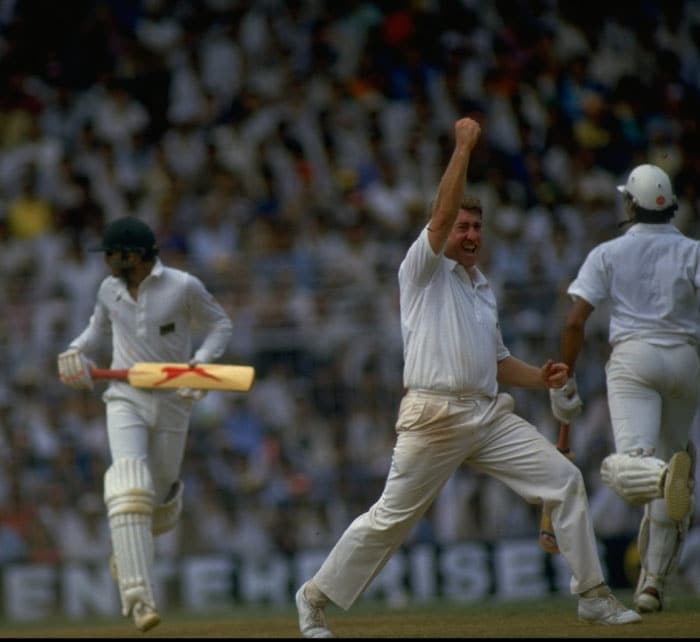 India were in the mourning the following day at Bombay when England's Graham Gooch swept the hosts' spinners on way to a superb century which led to his team's win in the other semi-final. The Bombay match was also Indian opener Sunil Gavaskar's last international appearance.