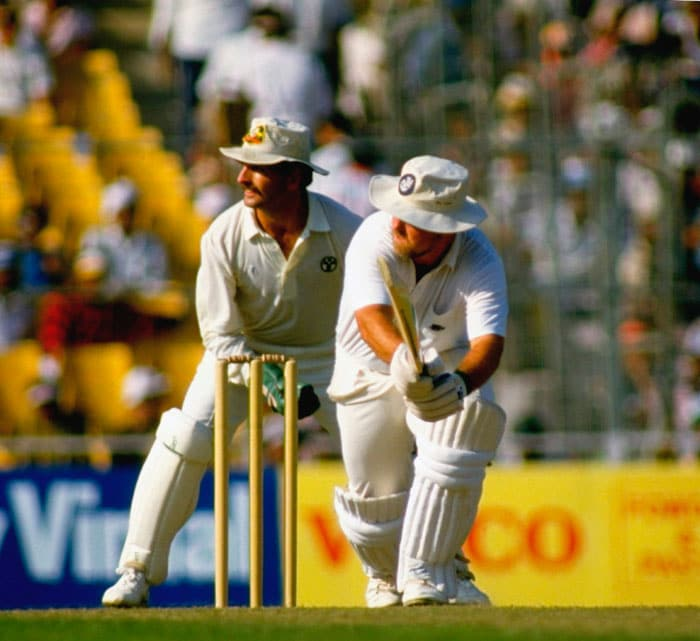Australia rode on David Boon's 75 to post 253-5, a total which never looked safe during the Bill Athey-Gatting partnership. England were strongly placed at 135-2 before disaster struck. Gatting (41) attempted a reverse-sweep off his counterpart Border, an occasional left-arm spinner, only to give wicket-keeper Greg Dyer a simple catch. England eventually fell short in their second appearance in the final.