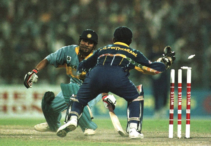 India, who had beaten Pakistan in the quarter-finals, were facing defeat against Sri Lanka at 120-8 chasing 252 when disturbances began. (Photo: Getty Images)