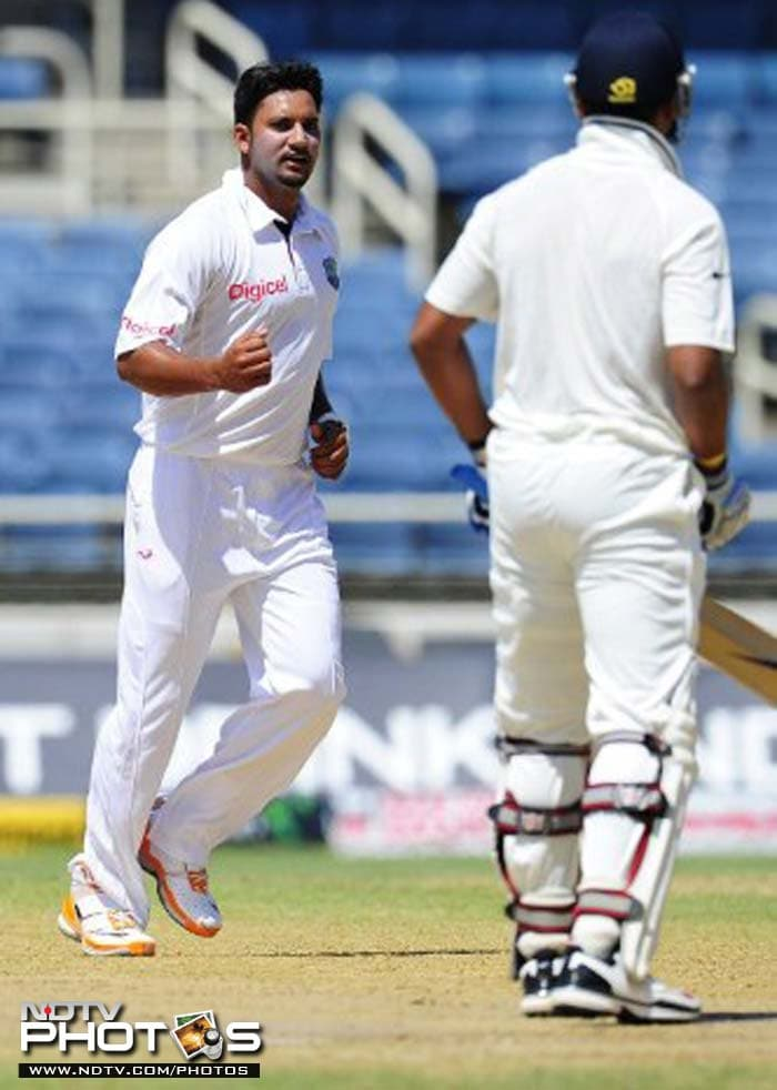 Ravi Rampaul began the charge early on as he gave West Indies the perfect start. He sent Murali Vijay (8) back to draw first blood.