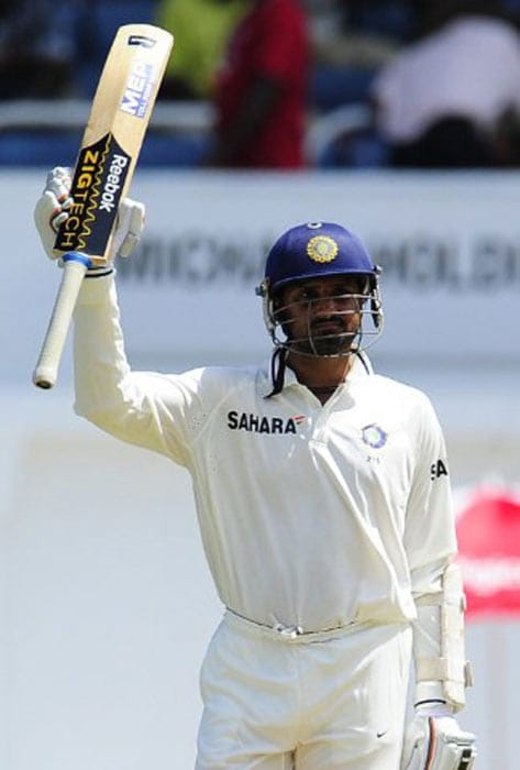 Harbhajan gave him good company and eventually overtook him to bring up his half century. He went on to score 70.