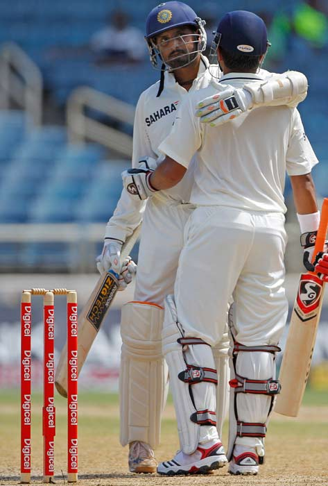 The duo put on a partnership of 146 runs for the seventh wicket and Raina's eventual score of 82 helped India finish on 246. West Indies in reply lost a wicket and finished the day 212 runs behind.