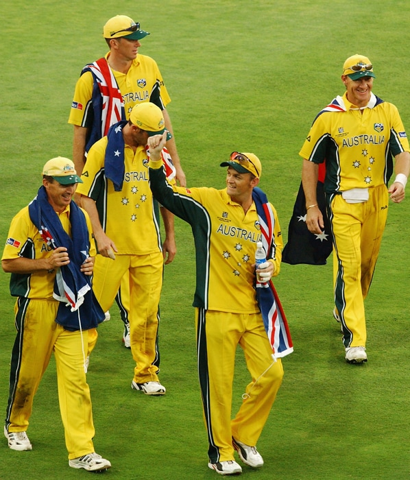 Ponting (140 not out) hijacked the final with a gem of a knock. He received valuable support from Damien Martyn (88 not out) to virtually put the match beyond India's reach as his team set a stiff 360-run target. Fast bowler Glenn McGrath rocked India with the prize wicket of Tendulkar (four) in his opening spell. India seemed to be chasing a mirage thereafter despite Virender Sehwag's 82 and were bowled out for 234.