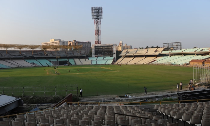 EDEN GARDENS (Kolkata, India)<br><br> Capacity: 80,000<br><br> Biggest ground in India and enjoys a status akin to the Lord's. Famous for its passionate and vocal crowd and has previously hosted World Cup matches in 1987 and 1996. Of late, spinners like Harbhajan Singh and Anil Kumble inspired famous victories against Australia and Pakistan. But its World Cup refurbishment was so far behind schedule that the February 27 game between India and England has been moved to another venue. It will, however, host the remaining three matches that were allotted to it. (AFP Photo)