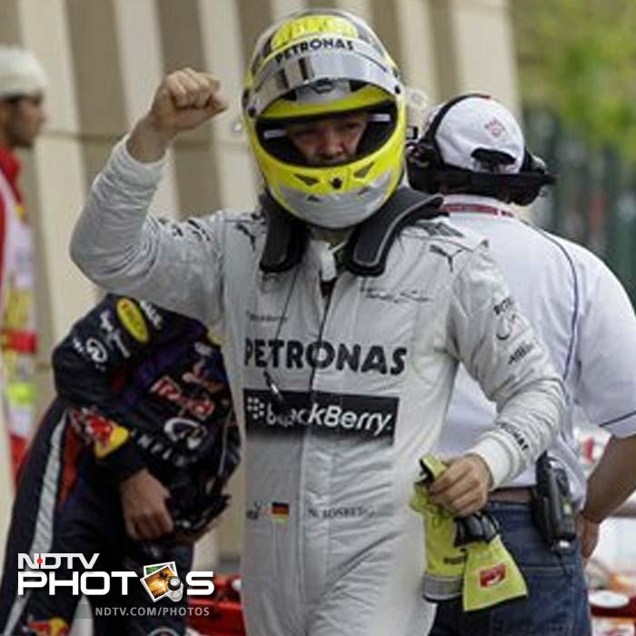 It is only the second pole of Nico Rosberg's career and best performance of the year for the 27-year-old German.