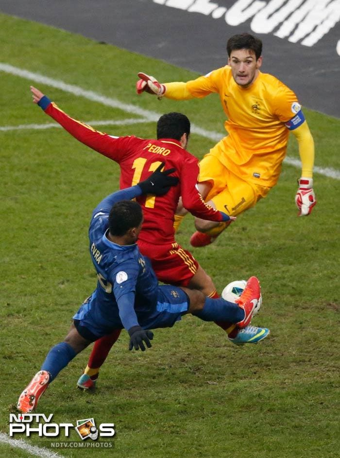 In a closely fought encounter at the Stade de France, Pedro scrambled home the winner which brushed the gloves of Hugo Lloris before going in.