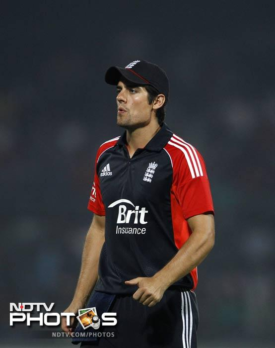 Alastair Cook could not do much as every move of his was thwarted by the Delhi batsmen, with authority.