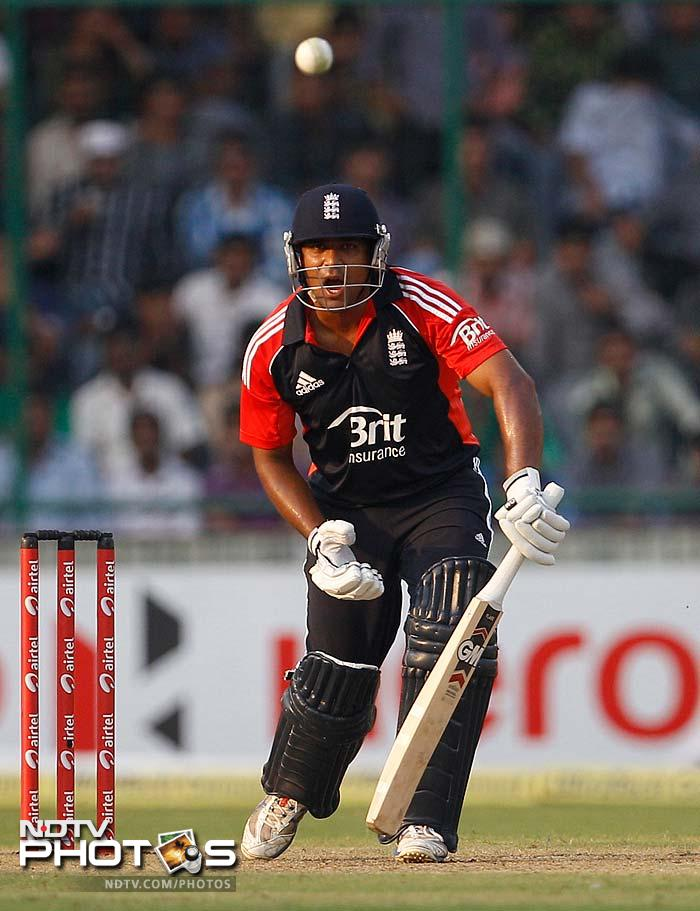 England were able to stabilize largely because of Samit Patel (42) and Jonny Bairstow (35).