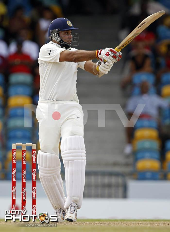 Though Virat Kohli too failed to bother the scorers, it was VVS Laxman who decided to make both them and the bowlers put in extra effort.